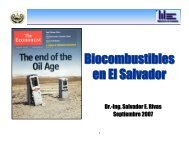 Biocombustibles en El Salvador Biocombustibles en El Salvador
