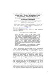 Transition metal complexes with thiosemicarbazide ... - doiSerbia