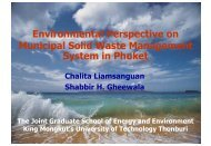 Environmental Perspective on Municipal Solid Waste Management ...