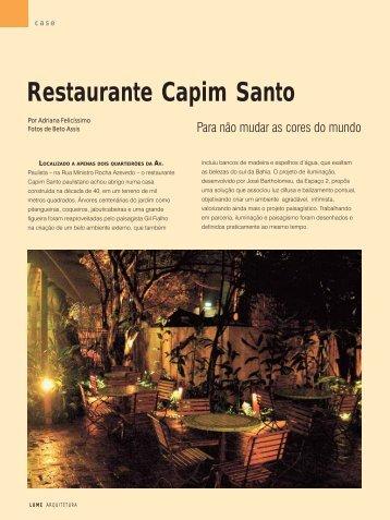 Restaurante Capim Santo - Lume Arquitetura