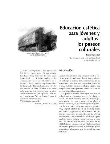 Educación estética para jóvenes y adultos: los paseos culturales