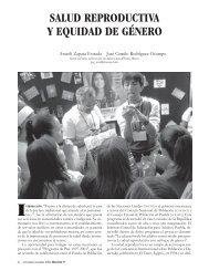 SALUD REPRODUCTIVA Y EQUIDAD DE GÉNERO