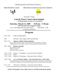 Land and Water Conservation Summit Program - Coastal Institute ...