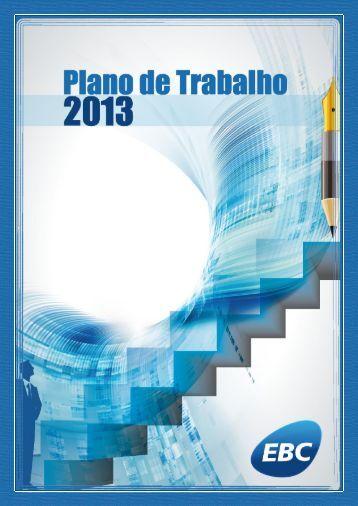 Plano de Trabalho 2013 - Conselho Curador - EBC