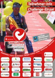 Teilnehmerinfo 2013 - Challenge Einzelstarter - Challenge Kraichgau
