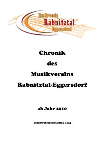 Chronik 2010 - Musikverein Rabnitztal-Eggersdorf