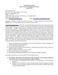 Syllabus (pdf) - Meet the Faculty - Pepperdine University