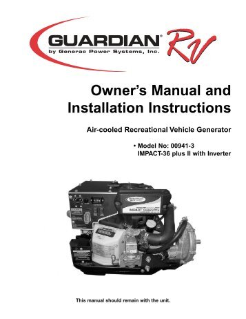 Installation Instructions And Owner S Manual
