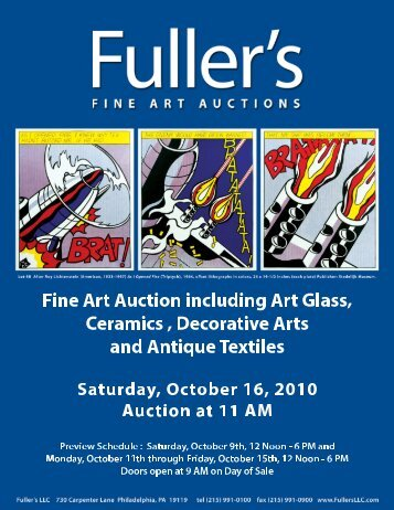 American, 20th Century - Fuller's Fine Art Auctions