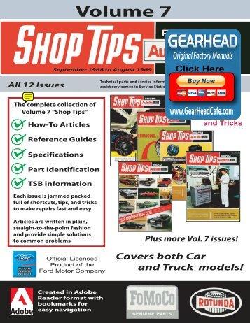 DEMO - Ford Shop Tips - Volume 7 - ForelPublishing.com
