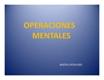 operaciones mentales - inicial