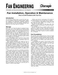 Fan Installation, Operation & Maintenance - Clarage