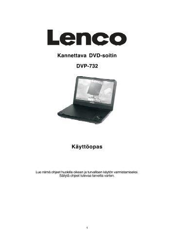 Kannettava DVD-soitin DVP-732 Käyttöopas - Lenco