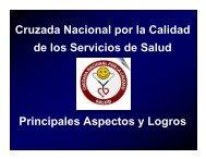 Cruzada Nacional por la Calidad de los Servicios de Salud ...