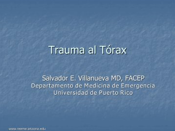 Thoracic Trauma - Reeme.arizona.edu