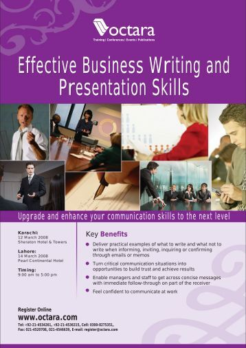 business writing skills presentation ppt slides