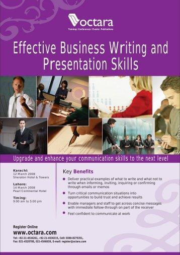 Effective Business Writing and Presentation Skills ... - Octara.com