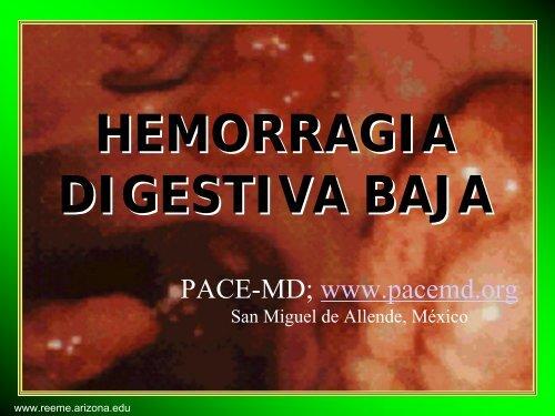 HEMORRAGIA DIGESTIVA BAJA - Reeme.arizona.edu