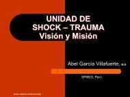 UNIDAD DE SHOCK – TRAUMA Vision y Mision - Reeme.arizona.edu
