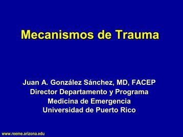 Mecanismos de Trauma - Reeme.arizona.edu