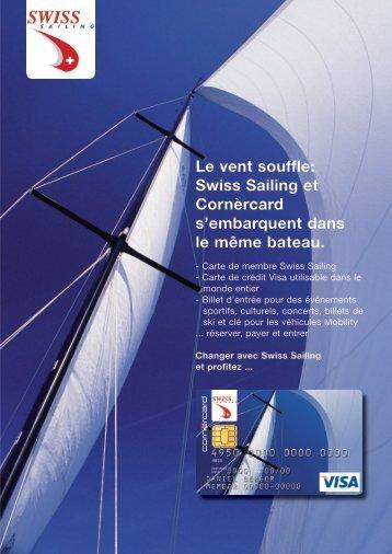 Le vent souffle: Swiss Sailing et Cornèrcard s'embarquent dans le ...
