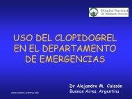 Clopidogrel en el departamento de emergencias - Reeme.arizona.edu