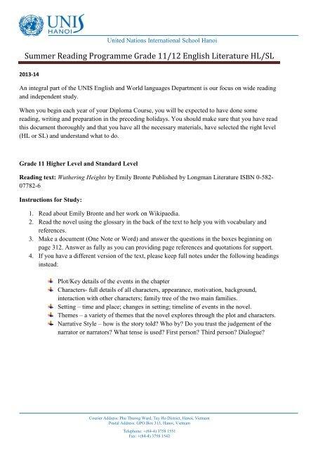 writing standards 12 grade