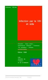 Infection par le VIH et sida (1998) - Sida Studi