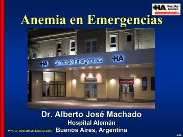 Anemia en emergencias - Reeme.arizona.edu