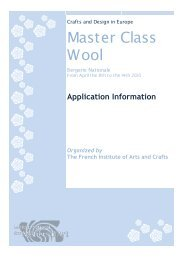 Master Class Wool - Crafts Council of Ireland