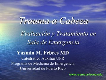 Trauma a Cabeza - Reeme.arizona.edu