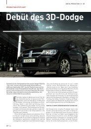 Debüt des 3D-Dodge - Mackevision