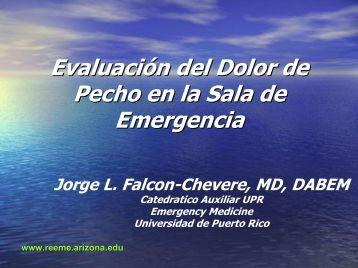 Evaluación del Dolor de Pecho en la Sala de Emergencia