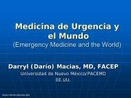 Medicina de Urgencia Y El Mundo - Reeme.arizona.edu