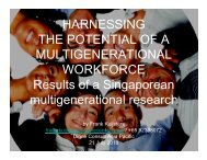 HARNESSING THE POTENTIAL OF A MULTIGENERATIONAL ...