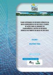 Plano Integrado de Recursos Hídricos da Bacia do Rio ... - CBH Doce