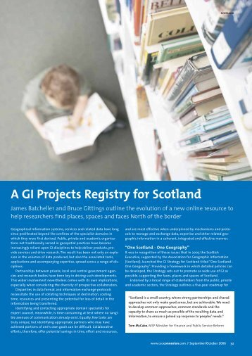 A GI Projects Registry for Scotland - Research - University of ...