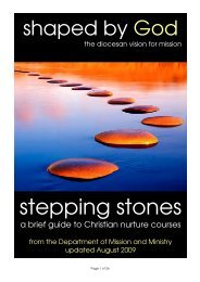 stepping stones - Diocese of Leicester