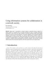 Using information systems for collaboration in a network society 1 ...