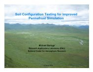 Soil Configuration Testing for Improved Permafrost Simulation - RAL