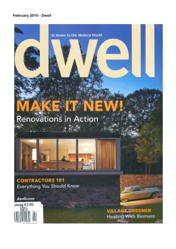 February 2010 – Dwell - Spiral Cellars