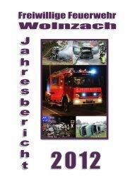 Bericht des Kommandanten - Feuerwehr Wolnzach