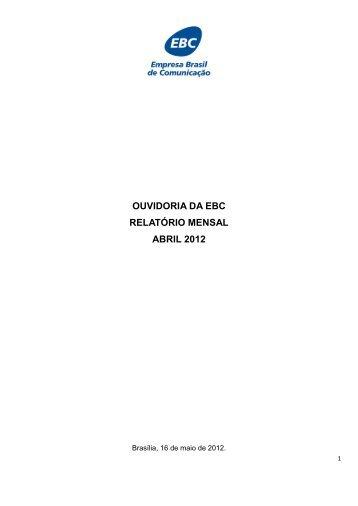 Abril/2012 - EBC - Empresa Brasil de Comunicação