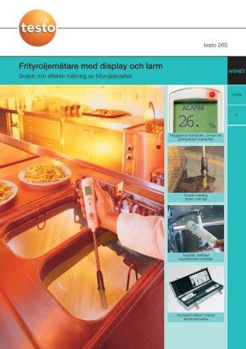 Frityroljemätare med display och larm