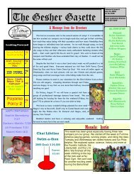 Issue 5 - July 31, 2009 - Gesher Summer Camp