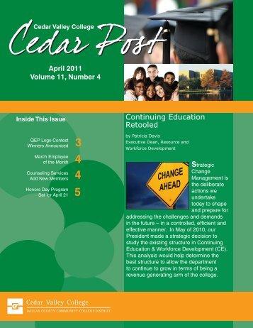 April 2011 - Cedar Valley College