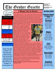 Issue 1 - July 2, 2010 - Gesher Summer Camp