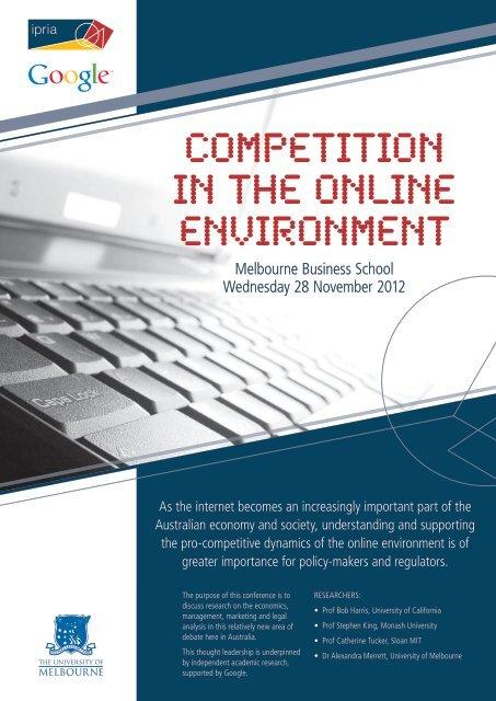 Program - Intellectual Property Research Institute of Australia