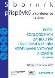 Sborník 2010 ( 4,36 MB ) - Zoo Ostrava