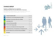 Maßnahmeliste Chance Beruf 2013 - gjb
